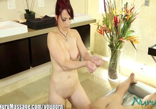 nuru massage nikki hunter's muff stuffed with