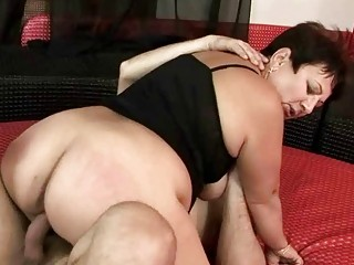 plump grandma getting drilled hard