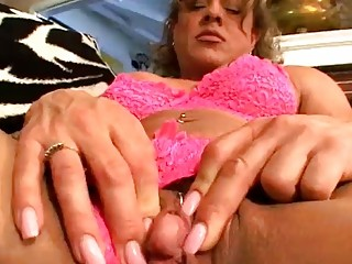 older latin babe fingers her pussy for us