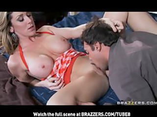 SON FINDS BIGTIT BLONDE MILF MOM CHEATING WITH