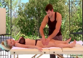 breasty blonde receives her hawt body massaged