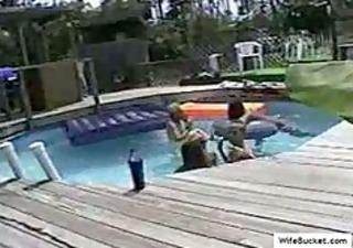 swinger fuckfest in the pool