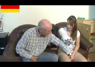german grandpa makes youthful girl concupiscent