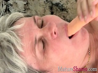 granny toys old unshaved snatch