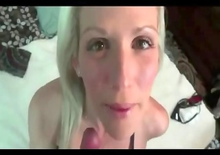 blonde milf acquires creampie and panty play