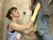 german older andrea dalton cleaning pissing