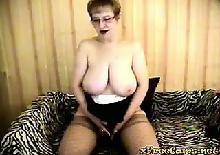 breasty cougar at play
