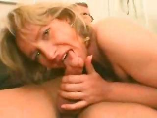 Blonde german milf gets seduced in a train