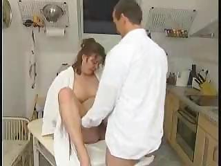 plump wife from germany busted getting analized