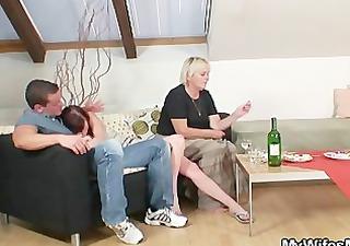 drunk old bag seduces me into sex
