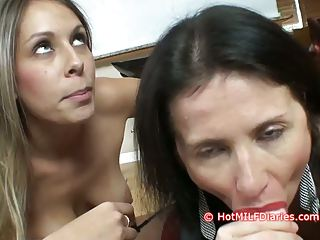 Slutty daughter wins blowjob contest over hot new