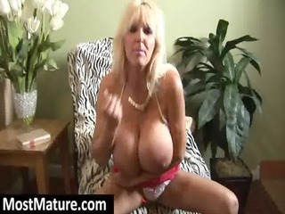 older blond with biggest fake tits
