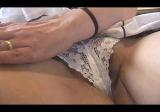 busty hairy aged with fine curves strips and