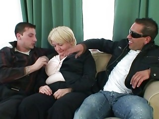 males gangbang absolutely drunk granny