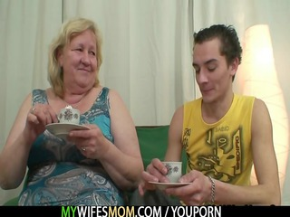 giant granny is gangbanged by her son in law