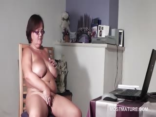 large titted older babe pleasuring her excited