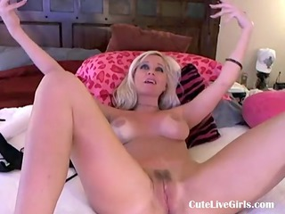 charming american blond fucking herself when mom