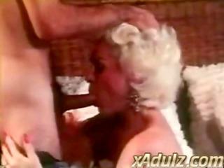 retro grey haired granny gives fleshly deepthroat