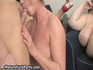 four chubby but horny aged ladies getting