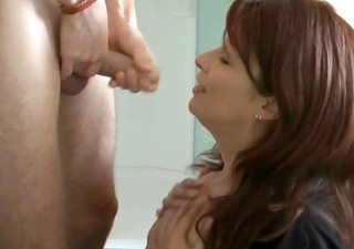 older mom fucking son at home