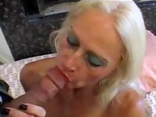 blonde old older tart in fishnets fucks aged