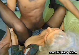 old non-professional mature wife sucks and fucks
