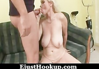 blond mom and guy - 1