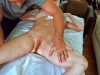 hawt mommy massaged then pounded