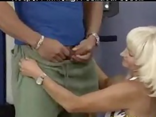 crazy old mom receives fucked hard in her pierced
