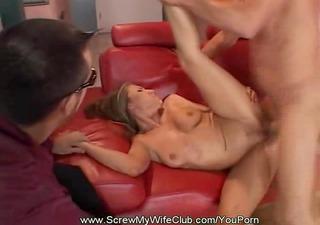 sharing his swinger wife is fun!