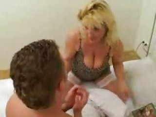very excited mother caught her son reading porn