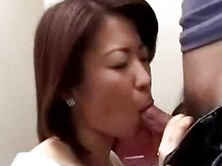 japanese mama caught chap masturbating in biffy