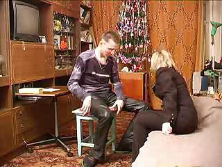 russian older male bonks her son`s superlatively