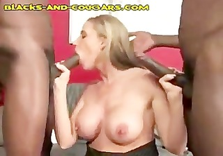 double dark meat for golden-haired cougar